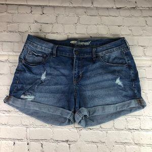 Old Navy The Boyfriend distressed jean shorts 12